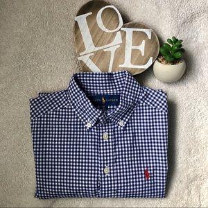 Ralph Lauren Gingham cotton poplin shirt size: S/8